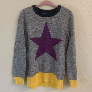 Baby Gap Kids girls heather gray star sweater